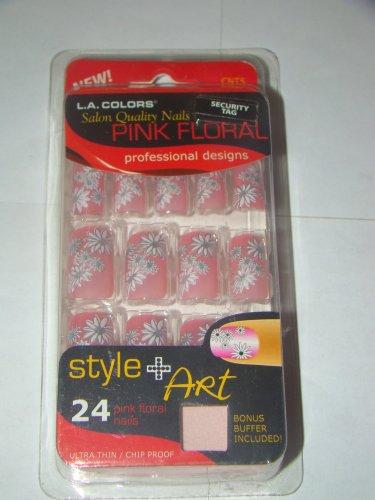 L.A. Colors Pink Floral Design