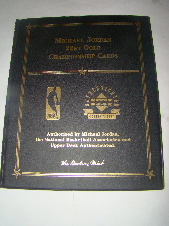 Michael jordan 22kt gold championship cards for Michaels crafts danbury ct