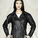 Ladies Leather Motorcycle Jacket (3X)