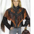 Ladies Jacket with Flame and Fringe (X-Large)