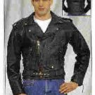 MJ210-Mens Naked Cowhide MC Jacket-(4X)