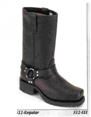 Biker Boot with Strap and ring on ankle. (Ladies) Size 8 Reg