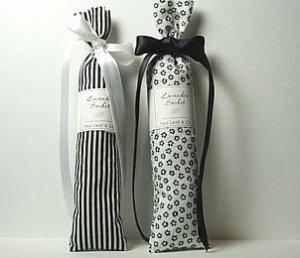 Lavender Sachet - Black & White