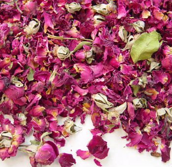 Red Rose Petals, Buds - GALLON SIZE PACKED FULL