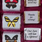 150 Wedding Bridal Shower Butterfly Themed Nugget Candy Wrappers