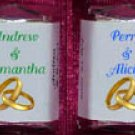 150 Wedding Bridal Shower Gold Rings Nugget Candy Wrappers