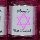 150 Bar Bat Mitzvah CUSTOM Candy Labels Wrappers Favors