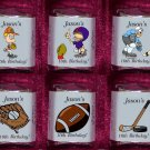 150 BIRTHDAY SPORTS THEMED Candy Custom Wrappers Favors