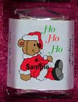 150 CHRISTMAS HOLIDAY THEMED Custom Candy Wrappers Favors