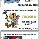 PIRATE BIRTHDAY Party Lollipop suckers Favors Tags