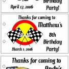 RACECARS RACE CARS BIRTHDAY Party Lollipop Favors Tags