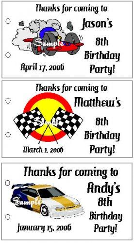 RACECARS RACE CARS BIRTHDAY Party Lollipop Favors Tags