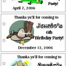 COWBOY WEST BIRTHDAY Party Lollipop suckers Favors Tags
