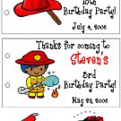FIRETRUCK BIRTHDAY Party Lollipop suckers Favors Tags
