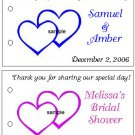WEDDING BRIDAL SHOWER HEARTS Party Lollipop sucker Favors Tags