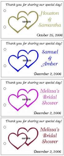 WEDDING BRIDAL SHOWER HEARTS Party Lollipop sucker Favors Tags