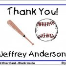 Kid BASEBALL  Themed Birthday Thank You Cards Notes Kids