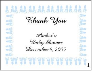 BABY SHOWER Thank You Cards Note Many Styles