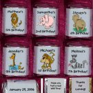 30 ZOO  JUNGLE ANIMALS THEMED BIRTHDAY PARTY Custom CANDY Wrappers Favors