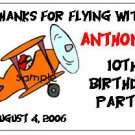 AIRPLANES BIRTHDAY Party Lollipop suckers Favors Tags