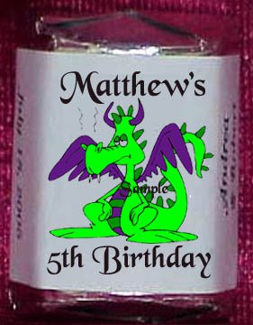 150 DRAGONS KNIGHTS THEMED BIRTHDAY PARTY CANDY Wrappers Favors