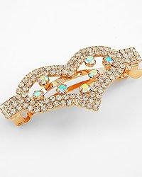 Gold Ab Clear / Crystal Lead&nickel Free Metal / Hair Pin