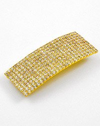 Goldtone / Clear Rhinestones / Lead & Nickel Free / Square Hair Clip