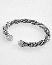 Silvertone / Spiral Style Cuff Bracelet