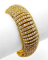 Goldtone / Clear Rhinestone / Lobster-claw / Bracelet