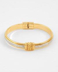 2 Tone  Fold-over Bangle Bracelet