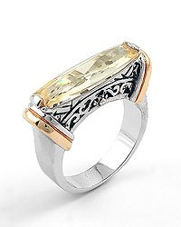 Silver Gold Yellow / Cubic Zirconia Metal