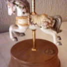 PORCELAIN CAROUSEL HORSE MUSIC BOX - PLAYS CAROUSEL WALZ - WESTLAND CAROUSEL COLLECTION