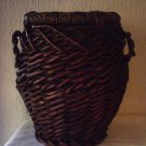 WICKER BASKET VASE WITH HANDLES - URN STYLE  - NEW ITEM