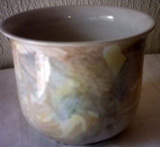 ROUND CERAMIC FLOWER PLANTER / VASE - GLAZED - MADE IN GERMANY