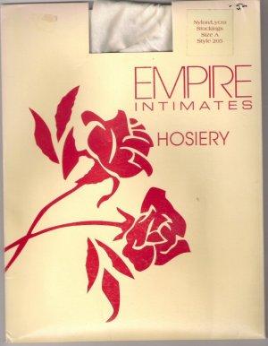 Empire Intitmates Hosiery Style 205 White Sz (X)
