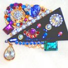 DAZZLING MULTI-COLORED CRYSTAL BROOCH