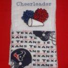 Future Cheerleader Houston Texans  Burp Cloth
