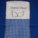 Blue Heaven Sent Burp Cloth