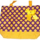 Yellow Large Polka Dots w/Purple Bag plus Free Personalization!