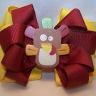 Boutique Thanksgiving Turkey Hair Bow