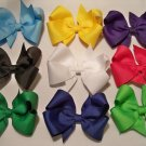 YOU PICK: Six (6) Boutique Solid Colored Hair Bows