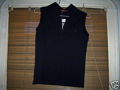 NWT Black Prada Sleeveless Polo, size L