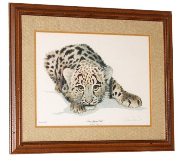 """Jim Oliver wildlife print """"Snow Leopard Cub"""""""