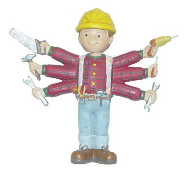 Handyman Bobble Head with 6 arms with Tools