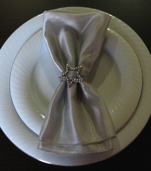 Rhinestone Star Napkin Ring with Napkin (Set of 4)
