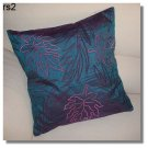 Blue Embroidered Raw Silk Cushion Cover ( rs 2) Set of two