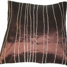 Brown Embroidered Raw Silk Cushion Cover ( rs7) Set of two