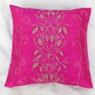 Simply  luxury pink raw silk cushion cover