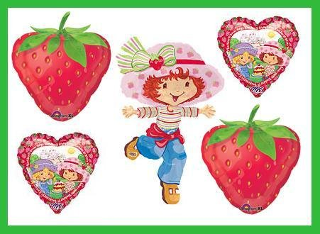 Strawberry Shortcake Birthday Balloon set