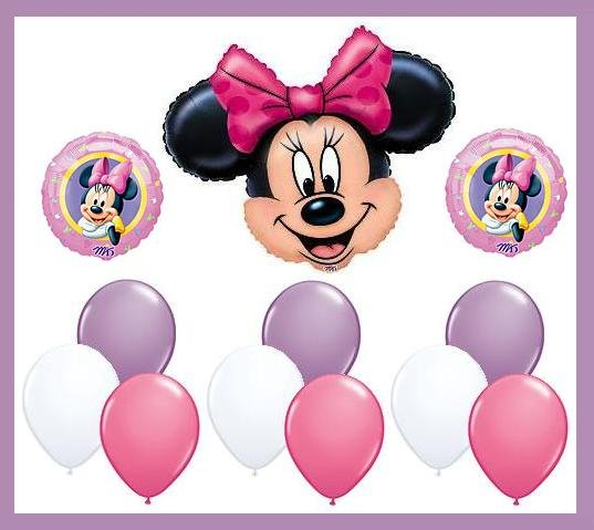 Minnie Mouse Birthday Balloon Kit -party supplies-12pcs